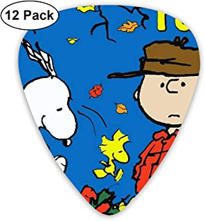LIUYAN Happy Fall Snoopy Guitar Picks Customized Fashion 12 Pack Picks for Musical Instruments