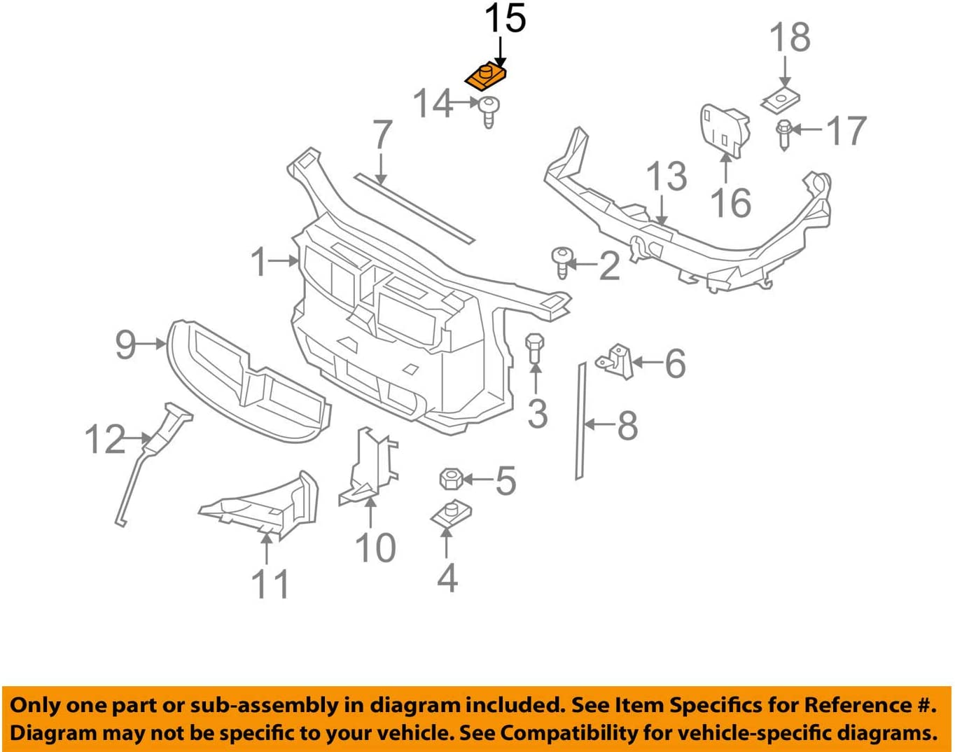 BMW OEM Easy-to-use 04-16 X3 Radiator Core Clip 41357 Reservation Bar Support-Lamp Mount
