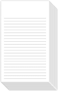 White Ruled Vertical Index Note Cards, 3