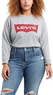 Levi's Women's Plus Size Relaxed Graphic Crew Sweatshirt
