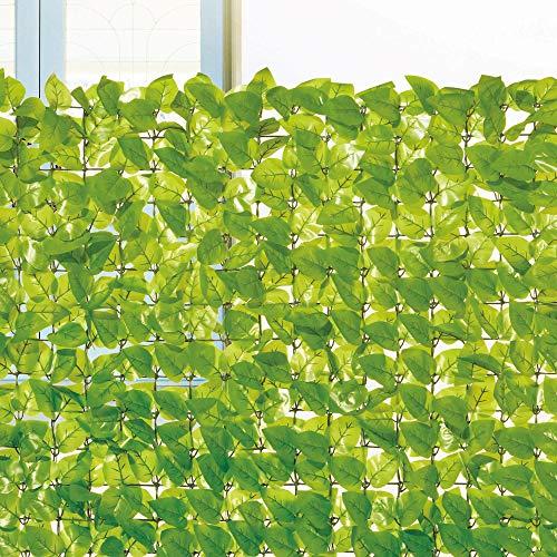 コーナン オリジナル 日よけ 目隠し ガーデンフェンス ライトグリーン 約100×100cm 【ベランダ目隠し プライバシー保護 緑のカーテン】