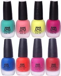 Makeup Mania Premium Nail Polish Set, Velvet Matte Nail Paint Combo of 8 Pcs, Perfect Gift for Girls and Women (Set No. 18-65), Multicolor, 600 g