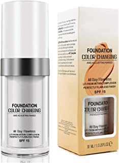 Foundation Color Changing, Cubierta del Corrector Make Up Cream Colour Correcting Cream,Resistente al Agua,Duradero, Creativo para Mujeres niñas