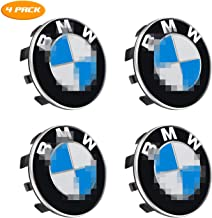 YiePhiot BMW Wheel Center Caps Emblem, 56mm Standard BMW Rim Center Hub Caps for All Models with BMW Wheels Logo Blue & White Color (4 Pack)