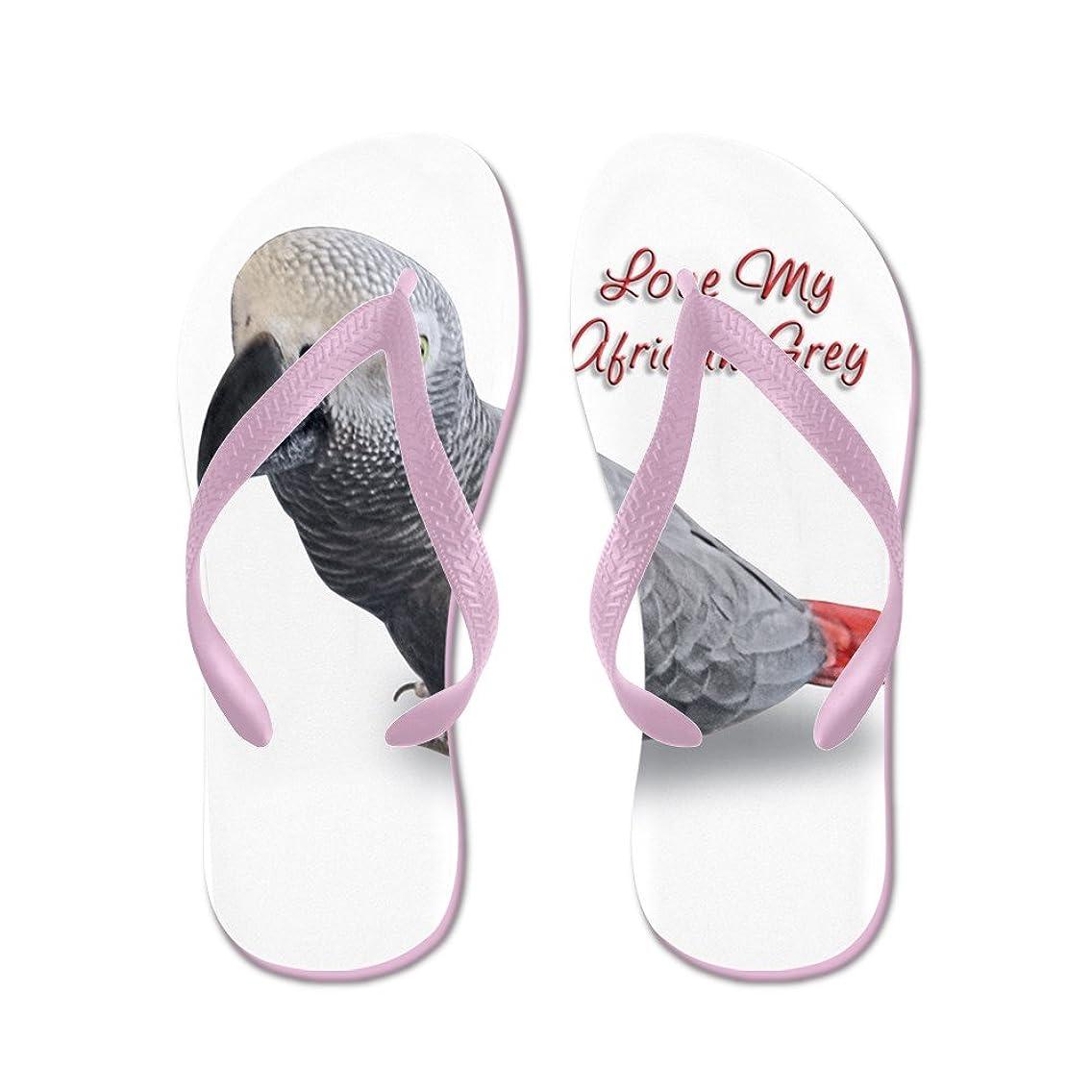 CafePress - African Grey Parrot Gifts - Flip Flops, Funny Thong Sandals, Beach Sandals