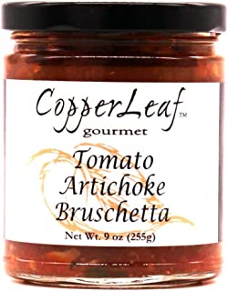 CopperLeaf Gourmet Artisan Tomato Artichoke Bruschetta | Handcrafted with Tomatoes, Artichokes and Garlic | All Natural an...