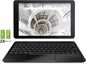 """RCA 10.1"""" HD IPS 32GB Quad-Core Tablet w/Extended Battery Keyboard Android 8.1 (10 inch, Black)"""