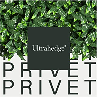 UltraHedge Artificial Hedge Privet in Light and Dark Green Blend with Yellow | Indoor and Outdoor Fence Privacy Panels and Wall Backdrop Decor for Events | 20 x 20 Inches | 6 Pack
