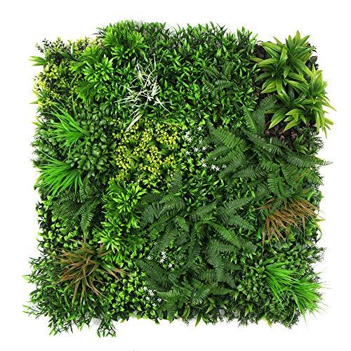 ULB052 ULB052 - Parete artificiale di Hedegs, in edera sintetica, per giardino verticale, 101,6 x 101,6 cm