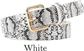 cintura per i fianchi cintura in vita 03010094 styleBREAKER Cintura donna con motivo a pelle di serpente e fibbia ad anello