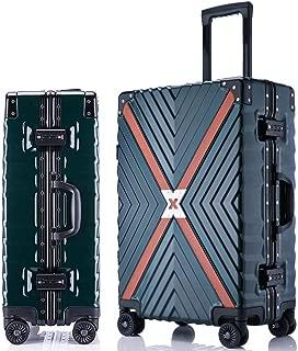 Suitcase Aluminium Frame 4 Silent Double Wheels TSA Lock,Green,20in