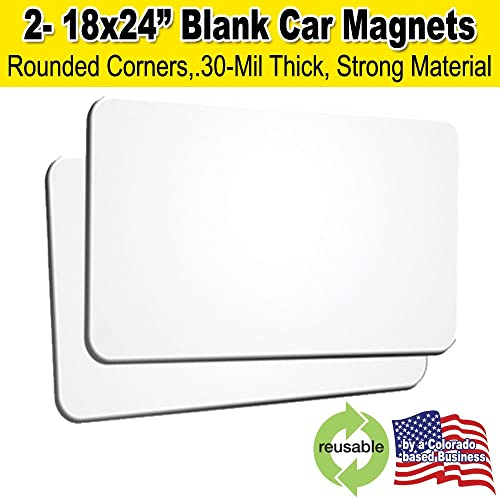 """1 Blank Magnetic Magnet Sign Craft Car Truck or van Material 10/' x 24/"""" 30mil"""
