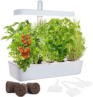GrowLED LED Height Adjustable,10-Pod Indoor Garden Germination Kit, Self Watering Herb Garden, Hydroponic Kitchen Garden, ...