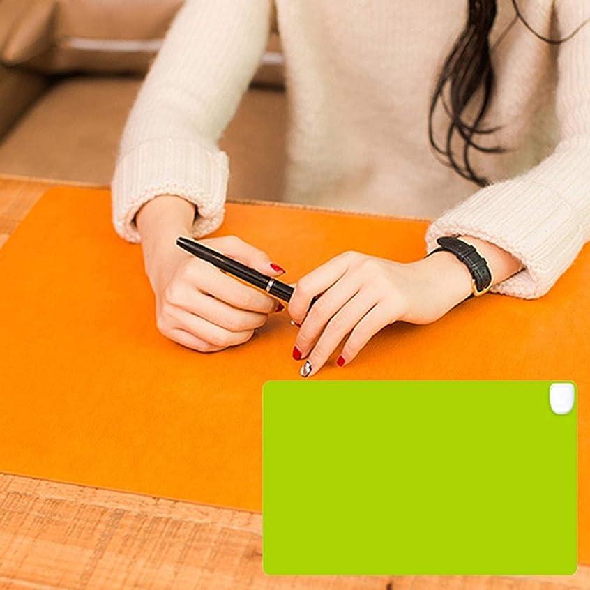 フラフープ適度に寛大さYZshell 多機能 24Vオフィス家の机のテーブルのキーボード安全な暖房マット、サイズ:60 * 36 * 3cm (色 : Green)