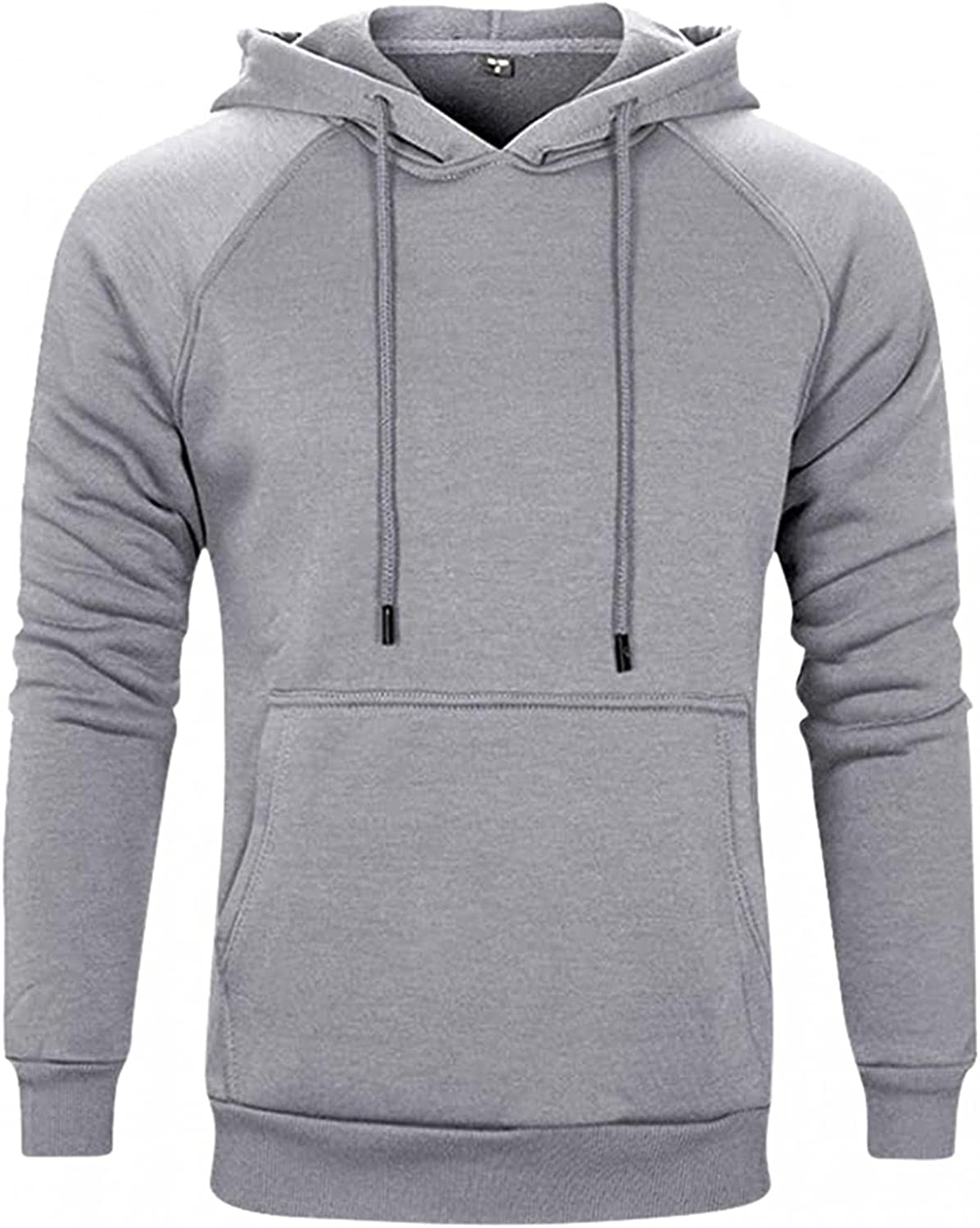 Aayomet Pullover Hoodies for Men Solid Long Sleeve Hooded Sweatshirts Casual Workout Sport Blouses Tops Sweaters