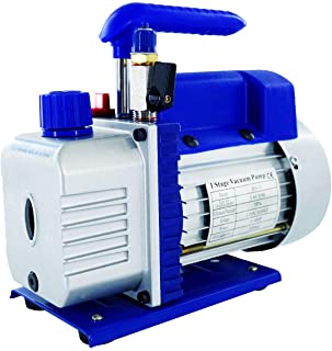 3.6CFM 1/4HP Singe-Stage Rotary Vane Vacuum Pump, Upgraded Design with Manual Valve for HVAC, Air Conditioner Maintenance,...