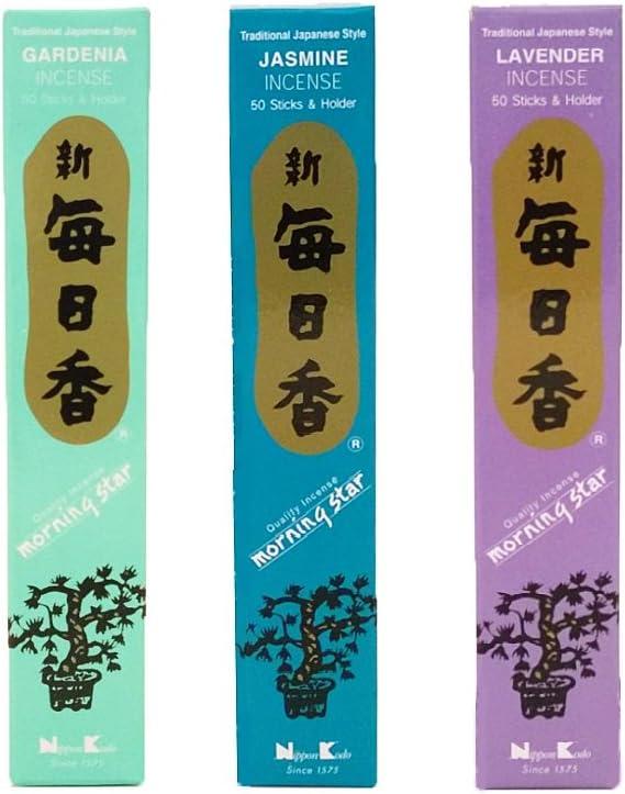 nippon kodo Morning Star Incense Bundle x 5 ☆ popular Boxes of Sticks Mail order 50 3