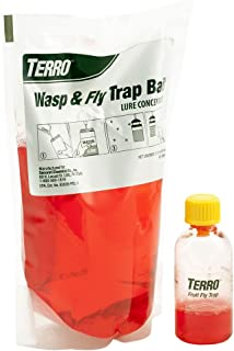 TERRO T515 Wasp & Fly Trap Plus Fruit Fly Trap, 1 Pack