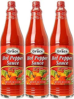 Grace Hot Pepper Sauce 6 FL Oz 3pk