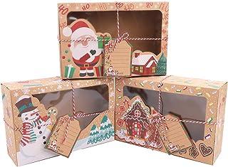 Confezioni Per Regali Di Natale.Amazon It Scatole Natalizie
