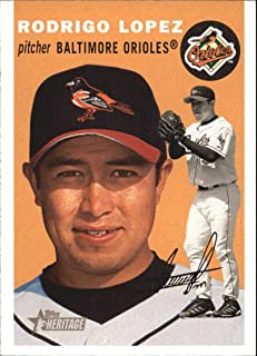 2003 Topps Heritage #27a Rodrigo Lopez Orioles MLB Baseball Card NM-MT