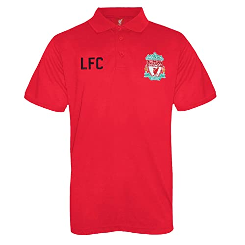 Liverpool FC Official Football Gift Mens Crest Polo Shirt 7fb00d731