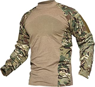 Men's Camouflage Combat Shooting Shirt Long Sleeve Airsoft Paintball Top