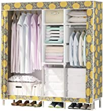 Portable Wardrobe Simple Wardrobe Fabric Closet Folding Clothing Storage Cabinet Dustproof Wardrobe Save Space Combination...