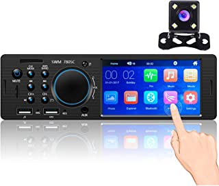 $47 » Hikity Single Din Car Stereo System 4.1 Inch Touchscreen Radio Bluetooth FM Receiver 2021 New 1DIN Head Unit with USB SD A...
