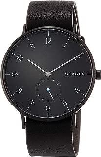 [スカーゲン]SKAGEN メンズ AAREN アーレン オールブラック レザー 革ベルト SKW6480 腕時計 [並行輸入品]