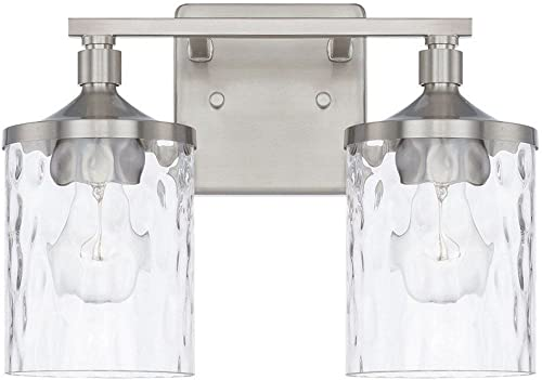 lowest HomePlace online 128821BN-451 Colton Vanity, 2-Light 200 Total Watts, online sale Brushed Nickel outlet sale