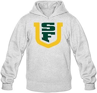 TMILLER Men's University of San Francisco USF Logo Hoodied Sweatshirt