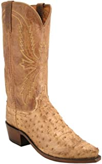 1883 Men's Cowboy Boots N1043.54 Ostrich Mad Dog Tan Goat