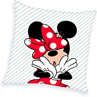 Herding Disney Minnie Mouse Almohada, poliéster, Blanco, 40 x 40 cm
