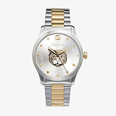 Gucci G-Timeless YA1264074 (Silver/Two-Tone Yellow Gold) Watches