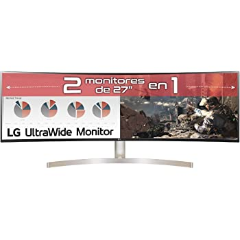 "Samsung C49HG90DMU – Monitor Curvo Gaming 49"" (QLED, 2 x Full HD ..."