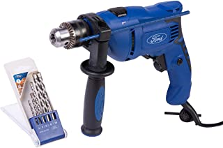 Ford 600 Watts Electric Impact Drill, 13 mm, FE1-10NCB, 5 Pieces Drill Bits