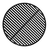 BBQration 18 3/16' Big Green Egg Grate Large CIF999A Matte Cast Iron Cooking Grid Grates Replacement Parts for Big Green Egg Large, Kamado Charcoal, Vision Grill VGKSS-CC2, B-11N1A1-Y2A