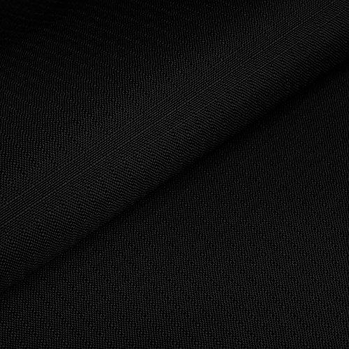 Cordura® Ripstop - Tela antidesgarros - Impermeable y a prueba de viento - Recubierta de teflón y poliuretano (PU) - Por metro (negro)