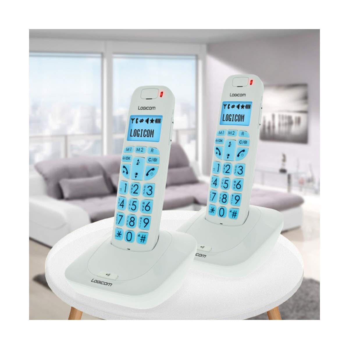 Logicom Comodidad 250 Duo – Teléfonos inalámbricos Pantalla táctil Blanco: Amazon.es: Electrónica