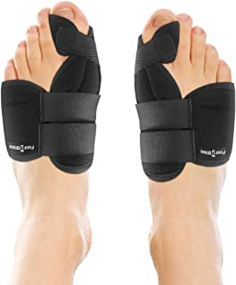 Nighttime Bunion Corrector + Bunion Relief Brace. 2 Best Bunion Toe Splint + Straightener Support Braces. Big and Hammer Toes Cushion for Bunions, Hallux Valgus, Arthritis, Feet Pain. Men and Women