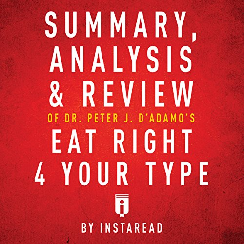 Summary, Analysis & Review of Peter J. D'Adamo's Eat Right 4 Your Type by Instaread cover art