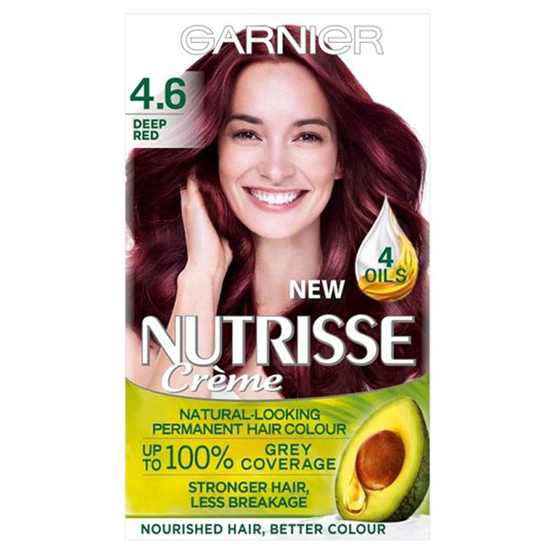 担当者遠え絞る[Nutrisse] ガルニエNutrisse 4.6深紅パーマネントヘアダイ - Garnier Nutrisse 4.6 Deep Red Permanent Hair Dye [並行輸入品]