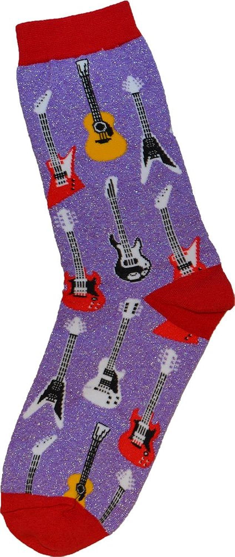 メタリック ギター(SG レスポール フライングV ストラト エクスプローラー)靴下 Metallic Guitar Socks