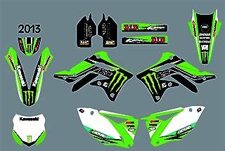 DST0686 Custom Kawasaki motorcycle Decal Kit Motorcross Graphics dirt bike Sticker for Kawasaki KXF450 2013 3M Adhesive Decals