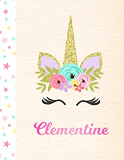 Clementine: 2 Year Unicorn Daily & Weekly Planner (2021 & 2022) - Personalized Custom Pink First Name for Girls - 8.5 x 11...