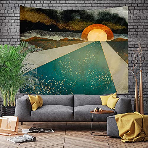 KHKJ Montaña Amanecer Pintura Tapiz Flor Colgante de Pared habitación Cielo Alfombra Dormitorio tapices Arte decoración del hogar Accesorios A2 150x130cm