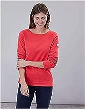 Joules Women's Harbour Solid Long Sleeve Jersey Top & Shout Wipe Bundle