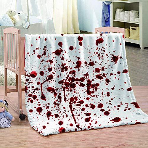 WAFJJ Soft Flanelldecke Horror & Blutfleck 3D-Druckdecke Sofadecke Wolldecke Bettlaken Warm Und Isolierung Camping,für alle Jahreszeiten bequem Geschenk Größe:130x150cm