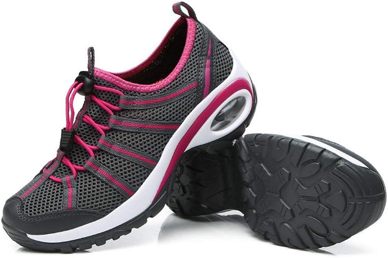 Kvinnliga fritidsskor Andningsbar Hollow Out gående Footwear Footwear Footwear Lady Weddes skor Air Damping Platform  utlopp på nätet